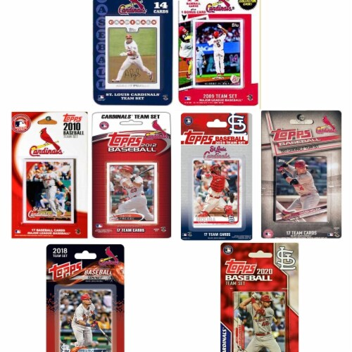 C&I Collectables CARDINALS720TS MLB St Louis Cardinals 7 Different Licensed Trading Card Team Perspective: front
