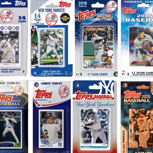 C&I Collectables YANKEES820TS MLB New York Yankees 8 Different Licensed Trading Card Team Set Perspective: front