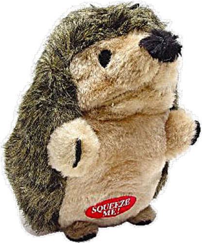 Aspen Large Soft Bite Hedgehog Dog Toy Perspective: front