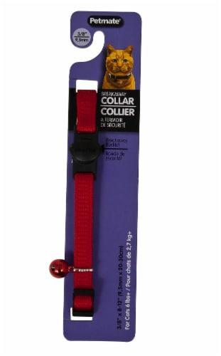 Petmate Red Breakaway Cat Collar Perspective: front