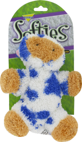 Booda Softies Cow Dog Toy Perspective: front
