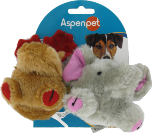Aspenpet Booda Squatters Moose & Elephant Perspective: front