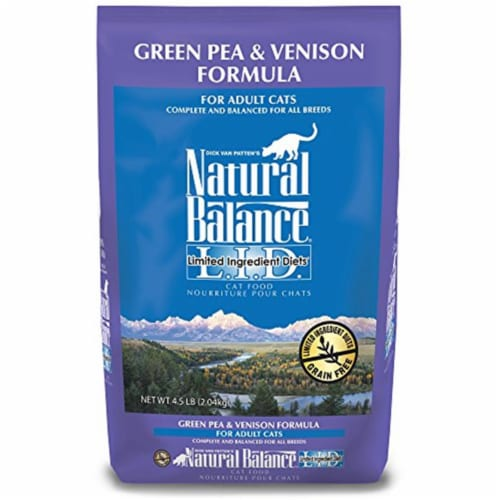 Natural Balance Pet Foods NA52065 Lid Green Pea & Venison Cat, 4.5 lbs Perspective: front