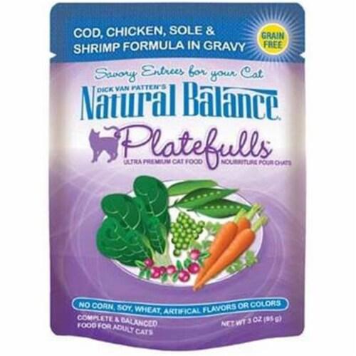 Natural Balance Pet Foods 723633531016 N Balance Platefulls Cod Chicken Sole & Shrimp-24pk Perspective: front