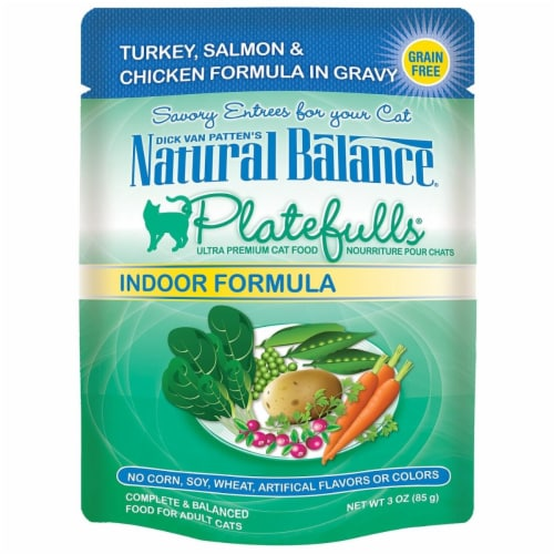Natural Balance Pet Foods 723633531047 Natural Balance Platefulls Indoor Turkey Salmon-24pk Perspective: front