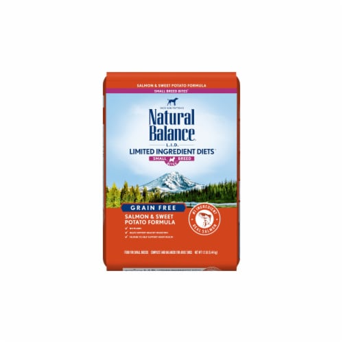 Natural Balance Pet Foods NA77807 LID Salmon & Sweet Potato Small Breed Dog Food, 12 lbs Perspective: front