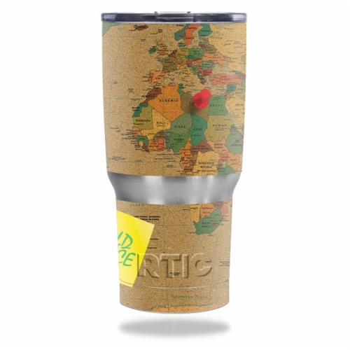 MightySkins RTTUM20-World Peace Skin for RTIC 20 oz Tumbler 2016 Wrap Cover Sticker - World P Perspective: front