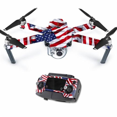 MightySkins DJMAVPRO-Patriot Skin Decal Wrap for DJI Mavic Pro Quadcopter Drone Cover Sticker Perspective: front