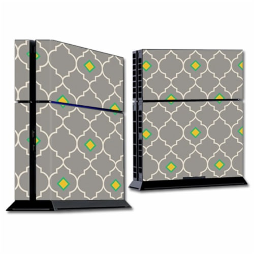 MightySkins SOPS4-Quatrefoil Skin for Sony Playstation 4 PS4 Console Wrap Sticker - Quatrefoi Perspective: front