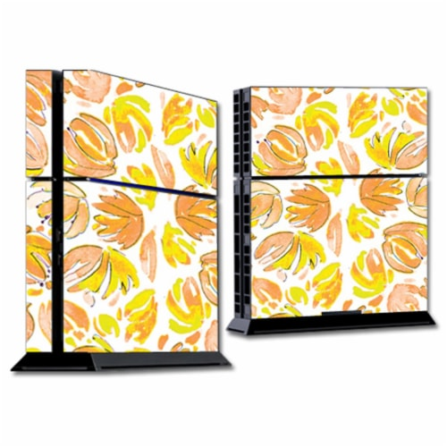MightySkins SOPS4-Yellow Petals Skin for Sony Playstation 4 PS4 Console Wrap Sticker - Yellow Perspective: front