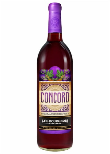 Les Bourgeois Concord Sweet American Red Wine Perspective: front