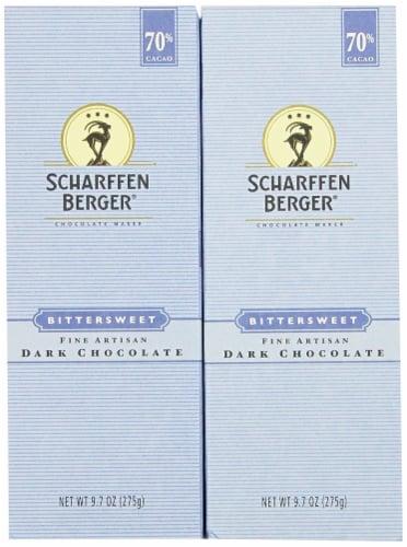Scharffen Berger Baking Bar, Bittersweet Dark Chocolate (70% Cacao), 9.7-Oz (Pack of 2) Perspective: front