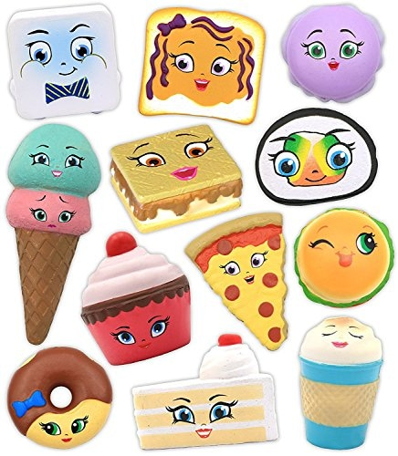 Emzo's Kawaii Squeezies Series 2 Food Novelty (One Random Figure) Perspective: front