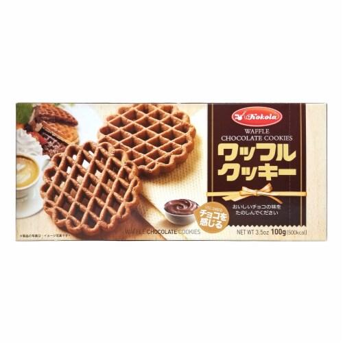 Kokola Waffle Chocolate Cookies Perspective: front