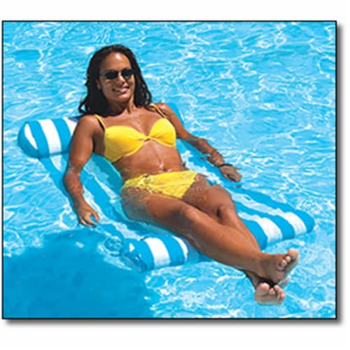 NEW Swimline 9044 Premium Swimming Pool Floating Water Hammock Lounge Chair Perspective: front