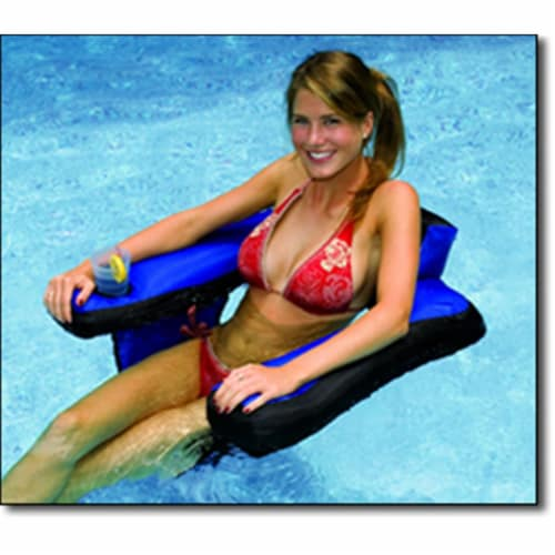 Swimline 90465 Nylon Inflatable Swimming Pool U-Seat Chair Float Lounger Perspective: front