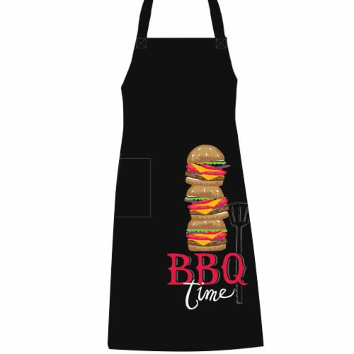 Kay Dee Designs BBQ Time Chef Apron - Black Perspective: front