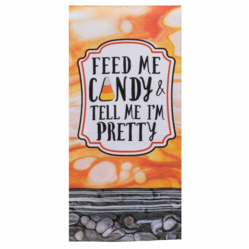 Kaydee Designs Feed Me Candy Kitchen Towel Perspective: front