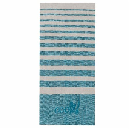 KayDee Designs Cook Woven Tea Towel - Teal Perspective: front