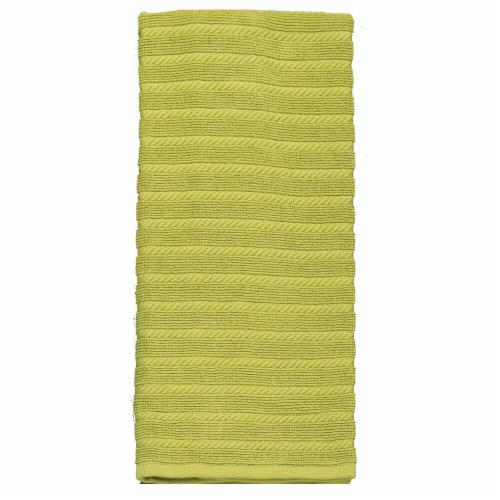 Kay Dee Designs Terry Ribbed Kitchen Towels - Pear Green Perspective: front