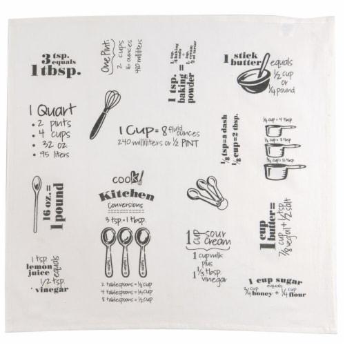 Kay Dee Designs Cook Flour-Sack Towel - Graphite Perspective: front