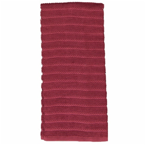Kay Dee Designs Terry Ribbed Kitchen Towels - Marsala Perspective: front
