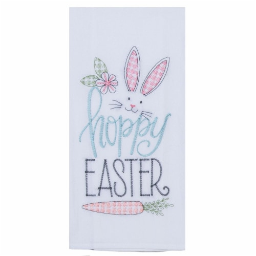 Kay Dee Designs Hoppy Easter Flour Sack - White Perspective: front