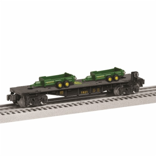 John Deere Flatcar with Load Perspective: front
