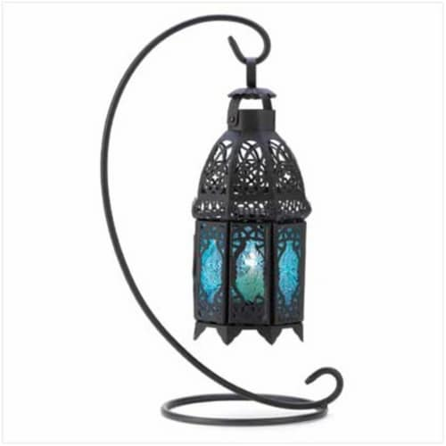 100 Sapphire Night Hanging Lantern Perspective: front