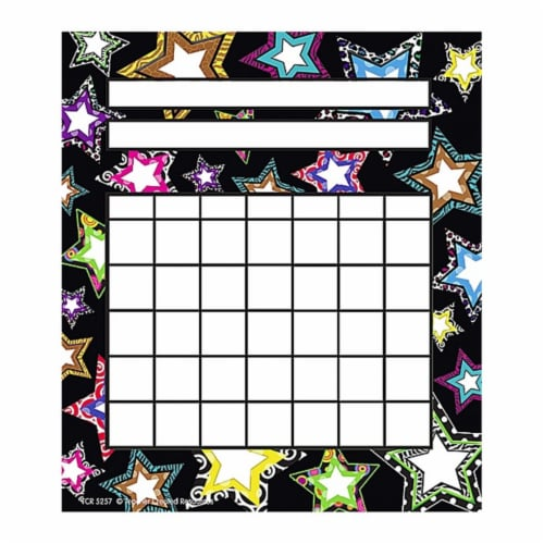 Fancy Stars Incentive Charts Perspective: front