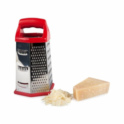 Modern Hex Grater, Red Perspective: front