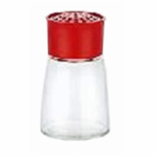 5.5 oz Glass Cheese Shaker Perspective: front