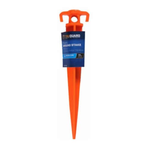 11 in. Tru Guard Plastic Stake, Orange Perspective: front
