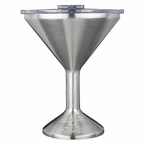 Martini Glass, Stainless Steel - 8 oz Perspective: front