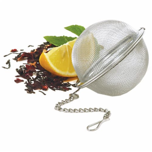 5503 2 in. Stainless Steel, Mesh Tea Ball Perspective: front