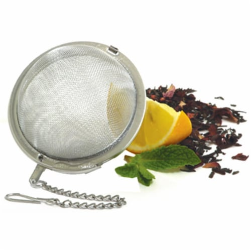 5504 2.5 in. Stainless Steel, Mesh Tea Ball Perspective: front