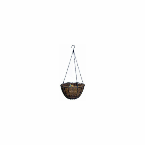88500 12 in. Round Green Growers Hanging Basket Perspective: front