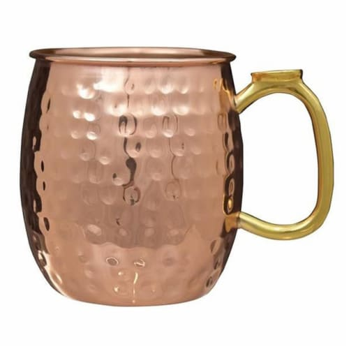 22 oz Moscow Mule Mug  Copper Hammered Perspective: front