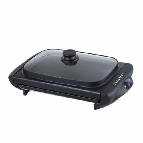 Electric Griddle with Glass Cover Perspective: front