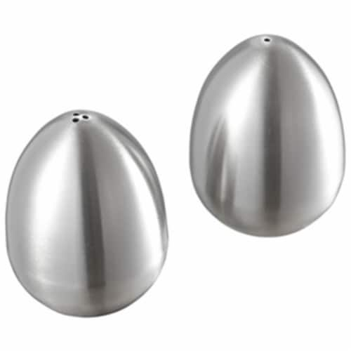 Giles Stainless Steel Salt & Pepper Shakers Perspective: front