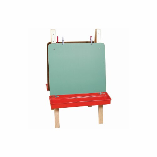 Tot-Size Double Chalkboard Easel Perspective: front