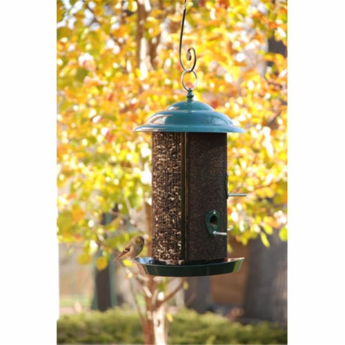 10 in. Combination Nyjer-Mixed Seed Mesh Feeder Perspective: front