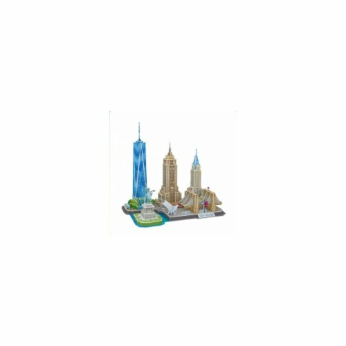 Cityline Series New York 3D Puzzle - 123 Piece Perspective: front