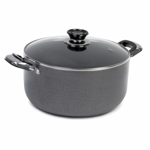 10 qt. Imusa Hammered Dutch Oven, Grey Perspective: front