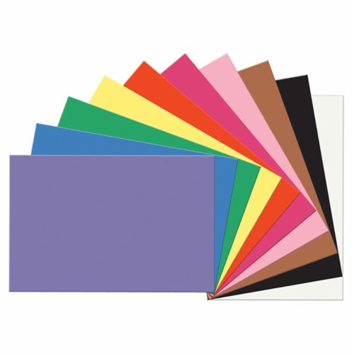 12 x 18 in. Construction Paper, Assorted - Pack of 5 Perspective: front