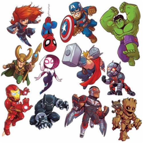 Marvel Super Hero Adventure 2 Sided Decor Kits Perspective: front