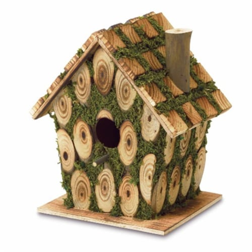 Moss Bird House Perspective: front