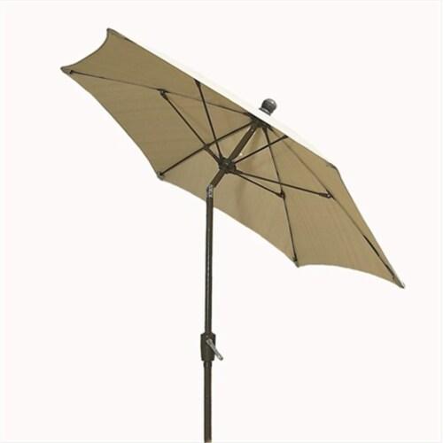 7Tcrcb-T-5422 Terrace Umbrella 7.5 Ft - Beige Perspective: front