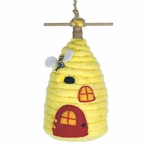 Felt Birdhouse - Honey House Perspective: front