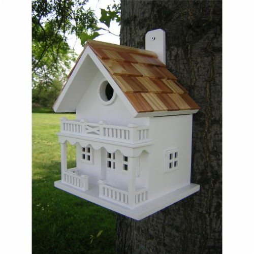 Chalet Birdhouse Perspective: front